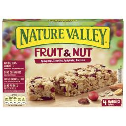 Μπάρες Δημητριακών Fruit & Nut Κράνμπερι 4x30g