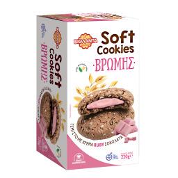 Μπισκότα Soft Cookies Βρώμης Ruby Σοκολάτα 220g