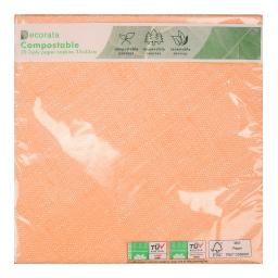 Χαρτοπετσέτες 3 Φύλλα Πορτοκαλί 20 Τεμάχια