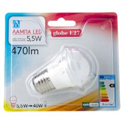 Λάμπα Led Globe E27 5.5W 1 Τεμάχιο