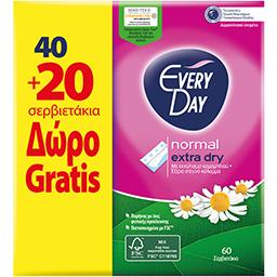 Σερβιετάκια Normal Extra Dry 40+20 Τεμάχια Δώρο