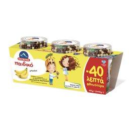 Επιδόρπιο Γιαουρτιού Παιδικό Μπανάνα 3x145g Έκπτωση 0.40Ε