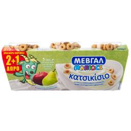 Επιδόρπιο Γιαουρτιού Κατσικίσιο Μήλο Αχλάδι 3x143g 2+1 Δώρο