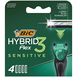 Ανταλλακτικά Ξυραφιού Hybrid 3 Flex Sensitive 4 Τεμάχια