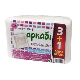 Σαπούνι Φυσικό Λευκό 4x150g 3+1 Δώρο