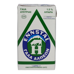 Γάλα Μακράς Διαρκείας Ελαφρύ 1.5 % 1 Lt