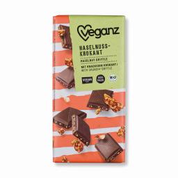 Σοκολάτα Bio Καραμελωμένα Φουντούκια 80g