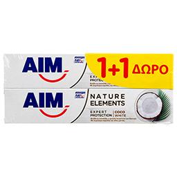 Οδοντόκρεμα Nature Elements Coco White 75ml 1+1 Δώρο