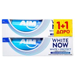 Οδοντόκρεμα White Now White & Protect 75ml 1+1 Δώρο 1+1