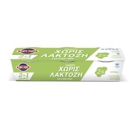 Γιαούρτι Χωρίς Λακτόζη 2%  3 X 200 gr 2+1