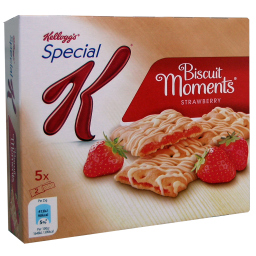 Μπάρες Δημητριακών Biscuit Moments Φράουλα 5 X 25gr