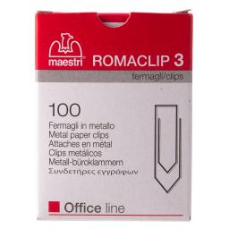 Συνδετήρες Romaclip 3 100 Τεμάχια