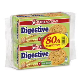 Μπισκότα Digestive Χωρίς Ζάχαρη 2x250g Έκπτωση 0.80Ε