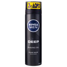 Gel Ξυρίσματος Men Deep Black Carbon 200ml Έκπτωση 2Ε