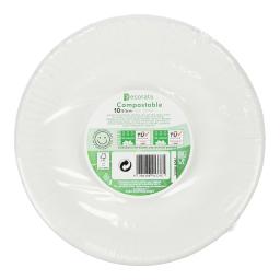 Πιάτα Χάρτινα 20cm Λευκά 10 Τεμάχια