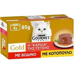 Γατοτροφή Μους Βοδινό & Κοτόπουλο 4X85 gr