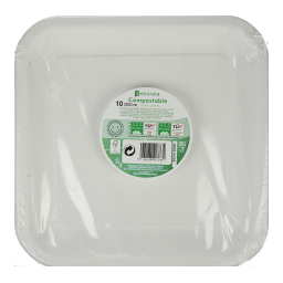 Πιάτα Χάρτινα 23cm Λευκά 10 Τεμάχια