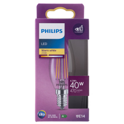 Λάμπα Led Filament E14 4.3W 1 Τεμάχιο
