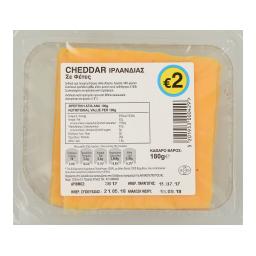Τυρί Cheddar Ιρλανδίας Φέτες 180gr