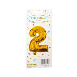 Μπαλόνι Foil Νο2 32cm Χρυσό 1 Τεμάχιο