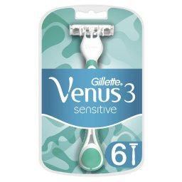 Ξυραφάκια Μίας Χρήσης Venus 3 Sensitive 4+2 Τεμάχια Δώρο