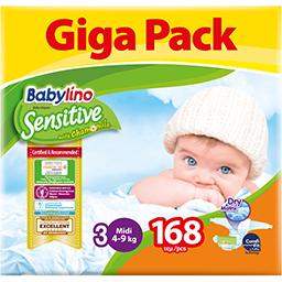 Πάνες Μωρού Sensitive Νο3 4-9kg Giga Pack 168 Τεμάχια