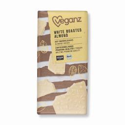 Λευκή Σοκολάτα Bio Καβουρδισμένα Αμύγδαλα 80g
