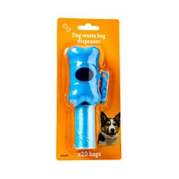 Σακούλες Περιττωμάτων Σκύλων 20 Τεμάχια + Θήκη 6g