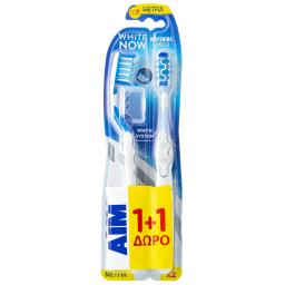 Οδοντόβουρτσα White Now Μέτρια 1 Τεμάχιο 1+1 Δώρο