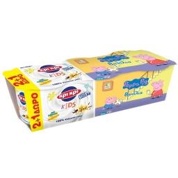 Επιδόρπιο Γιαουρτιού Peppa Pig Βανίλια 3x140g 2+1 Δώρο