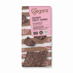 Σοκολάτα Bio Καρύδα Βατόμουρα & Quinoa 80g