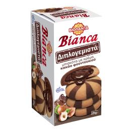 Μπισκότα Bianca Διπλογεμιστά Κακάο 225g