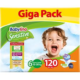Πάνες Μωρού Sensitive No6 15-30kg Giga Pack