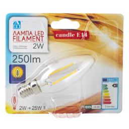 Λάμπα Led Filament E14 2W 1 Τεμάχιο