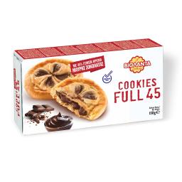 Μπισκότα Cookies Full 45 Μαύρη Σοκολάτα 150g