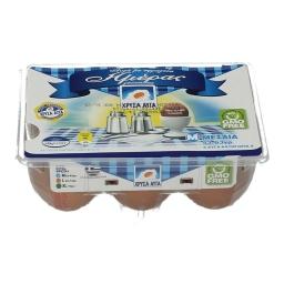 Αυγά Φρέσκα Κλωβοστοιχίας Medium 6 Τεμάχια