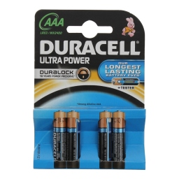 Μπαταρίες Αλκαλικές Ultra Power AAA 4 Τεμάχια