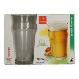 Ποτήρι Μπύρας Nonix Γυάλινο Σετ 2 Τεμάχια