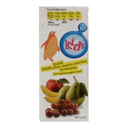 Χυμός Φυσικός Μπανάνα Σταφύλι Μήλο Αχλάδι 250ml