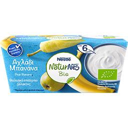 Επιδόρπιο Γάλακτος bio Αχλάδι Μπανάνα  2 X 90 gr