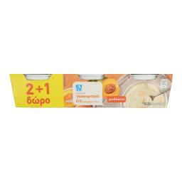 Επιδόρπιο Γιαουρτιού Ροδάκινο 3Χ200 gr 2+1 Δώρο (2+1)