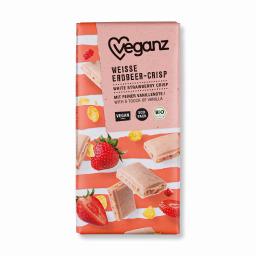 Λευκή Σοκολάτα Bio Φράουλα & Corn Flakes 80g