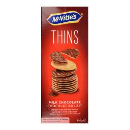Μπισκότα Digestive Thins Σοκολάτα Γάλακτος 150g
