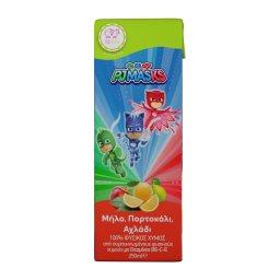 Φυσικός Χυμός PJ Masks Μήλο Πορτοκάλι Αχλάδι 250ml
