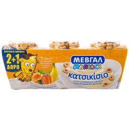 Επιδόρπιο Γιαουρτιού Κατσικίσιο Βερίκοκο Μπανάνα 3x143g 2+1 Δώρο