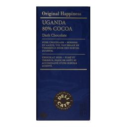 Μαύρη Σοκολάτα 80% Κακάο Uganda 100gr