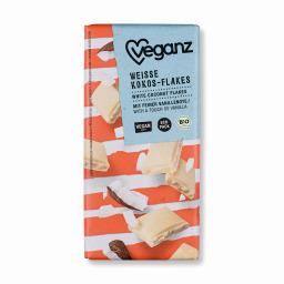 Λευκή Σοκολάτα Bio Γάλα Ρυζιού & Flakes Καρύδας 80g