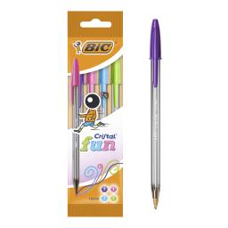 Στυλό Cristal Fun 1.6mm Διάφορα Χρώματα 4 Τεμάχια