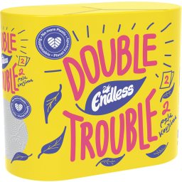 Χαρτί Κουζίνας Double Trouble 2 Φύλλα 2 Τεμάχια