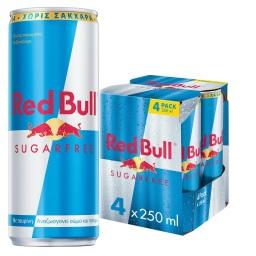 Ενεργειακό Ποτό Red Bull Χωρίς Ζάχαρη 4x250ml